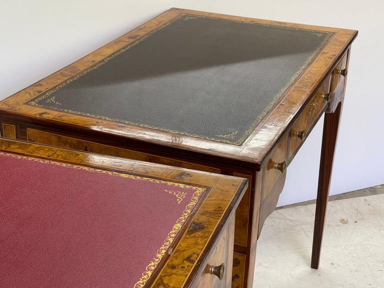 Pair of Italian Burl Wood Writing Tables For Sale 3