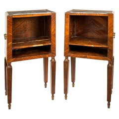 Pair of Italian Cabinets, Italy, 18th Century, Italian Bedside Chest of Drawers