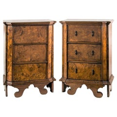 Pair of Italian Cabinets, Italy 18th Century, Italian Bedside Chest of Drawers
