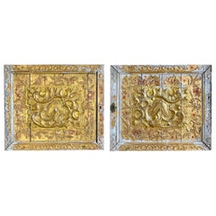 Pair of Italian Carved Giltwood Panels, circa 900s