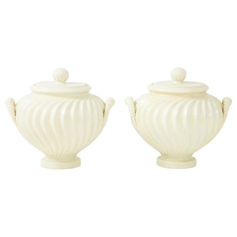 Pair of Italian Ceramic Vases 1