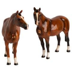 Pair of Italian Ceramic Horses