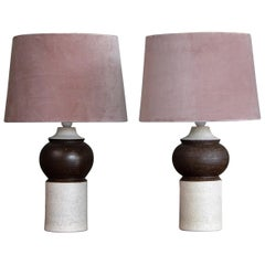 Pair of Italian Ceramic Table Lamps, 1960s