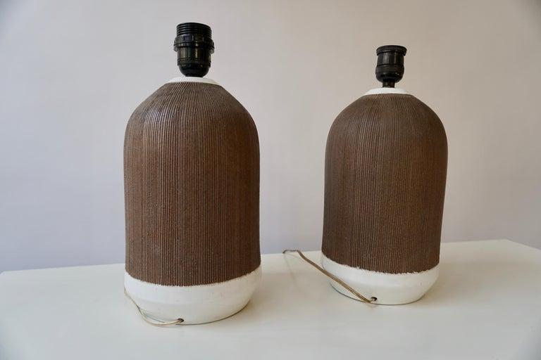 Pair of Italian Ceramic Table Lamps For Sale 4