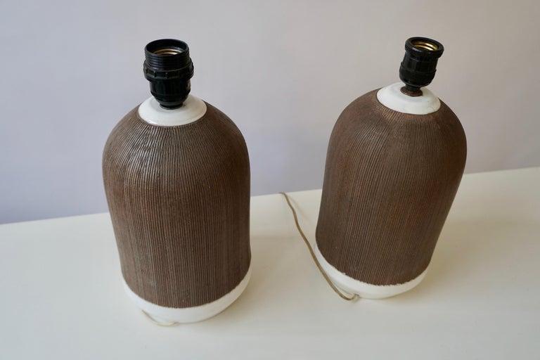 Pair of Italian Ceramic Table Lamps For Sale 5