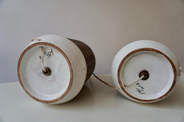Pair of Italian Ceramic Table Lamps For Sale 7