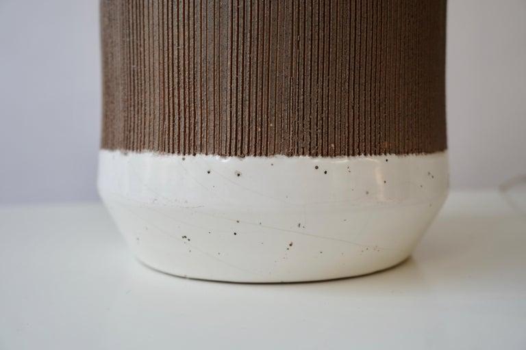 Pair of Italian Ceramic Table Lamps For Sale 8