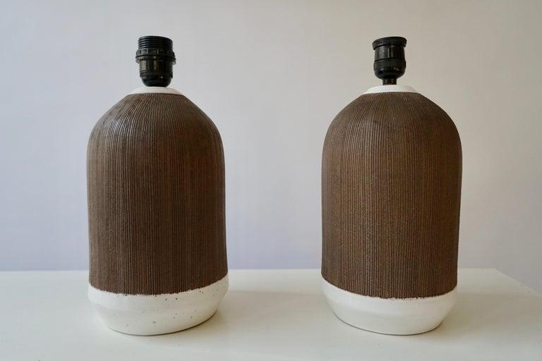 20th Century Pair of Italian Ceramic Table Lamps For Sale
