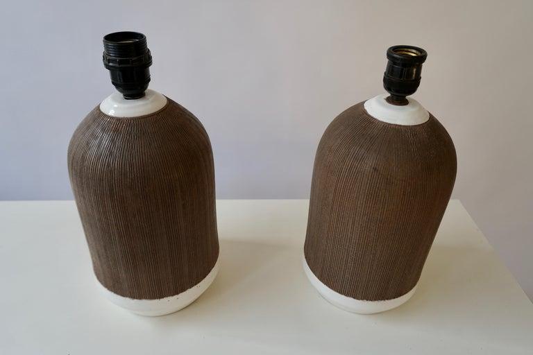 Pair of Italian Ceramic Table Lamps For Sale 1