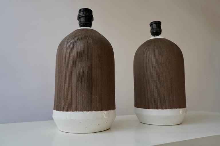 Pair of Italian Ceramic Table Lamps For Sale 3