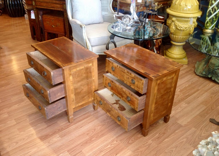 20th Century Pair of Italian Chair Side Chests For Sale