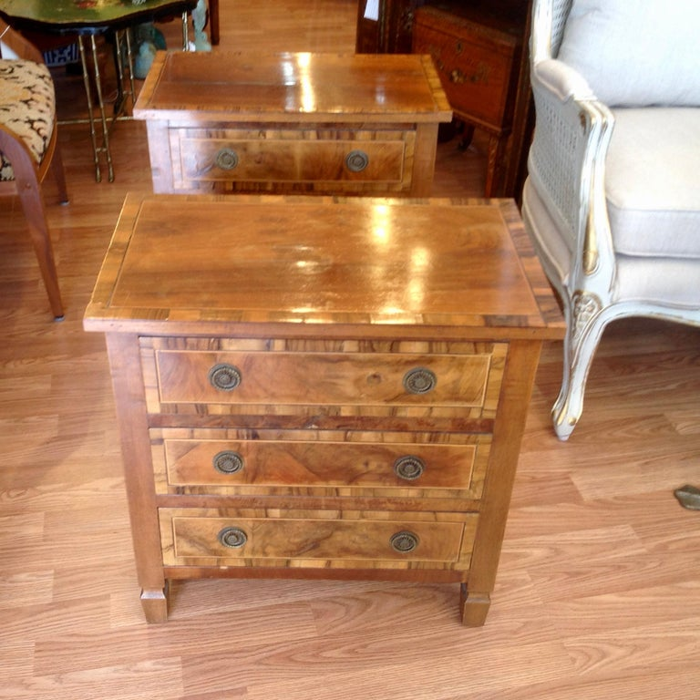 Pair of Italian Chair Side Chests For Sale 2