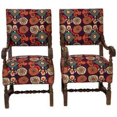 Pair of Italian Chairs, Etro Fabric