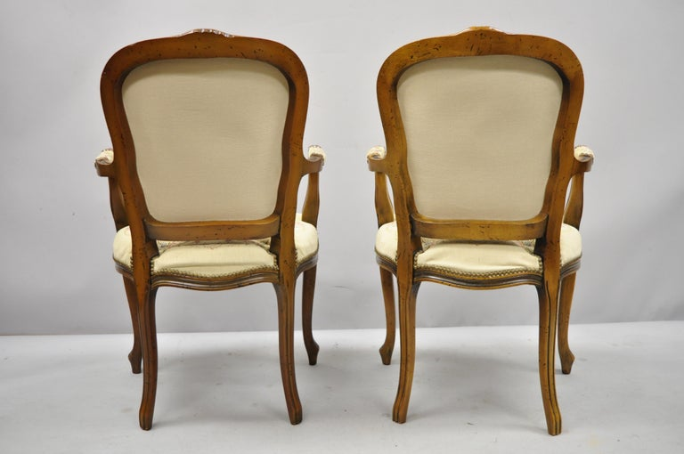 Pair of Italian Chateau d'Ax Spa French Louis XV Style Tapestry Armchairs For Sale 7