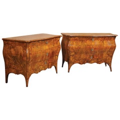 Pair of Italian Chest of Drawers, Milan, 18th Century, Italy Commodes Louis XV