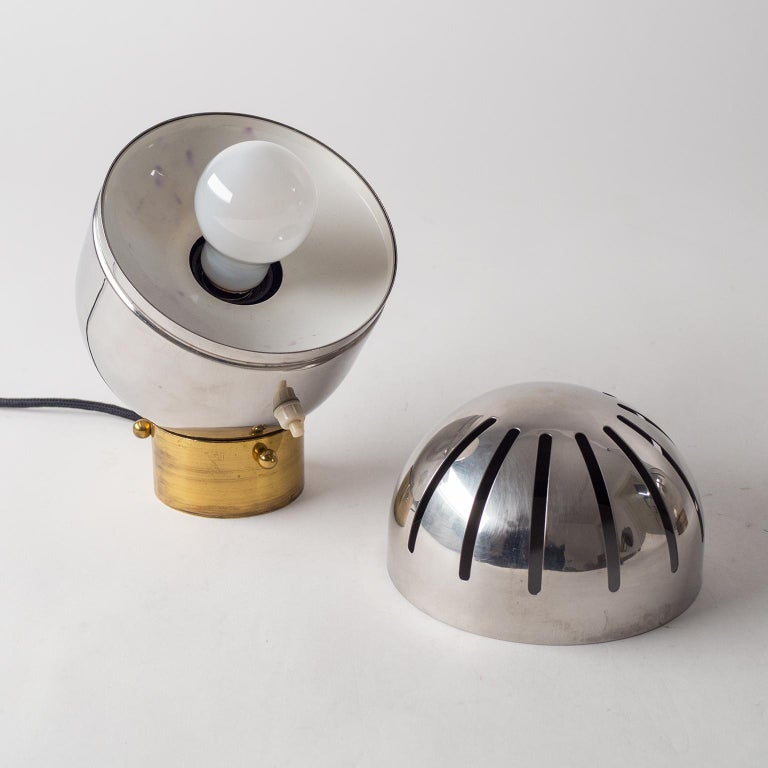 Pair of Italian Chrome Table Lamps by Reggiani, circa 1968 For Sale 1