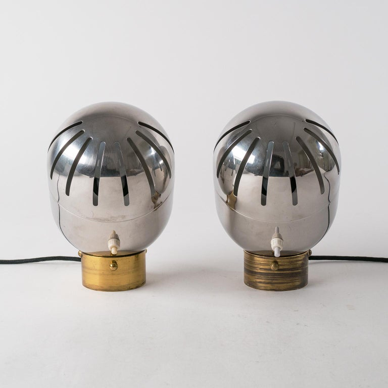 Pair of Italian Chrome Table Lamps by Reggiani, circa 1968 For Sale 3