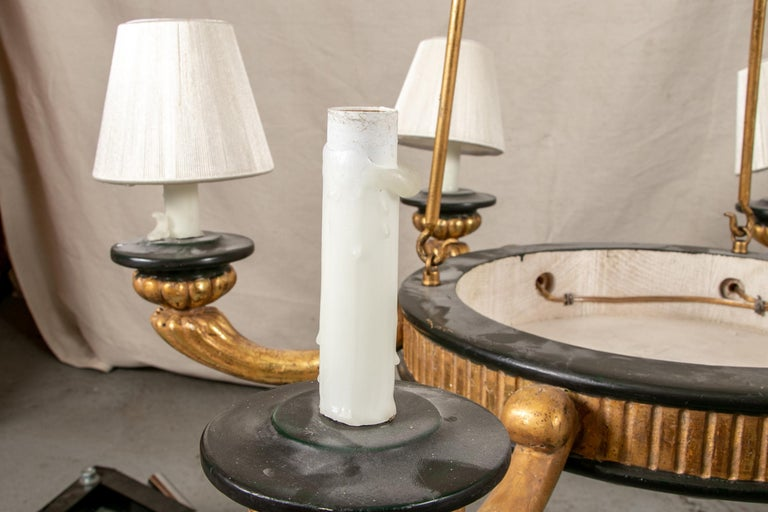 Pair of Italian Classical Style Chandeliers For Sale 5