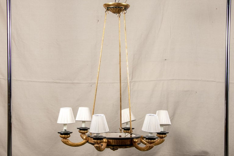 Pair of Italian Classical Style Chandeliers For Sale 8