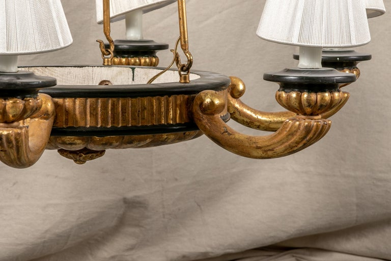 Pair of Italian Classical Style Chandeliers For Sale 10