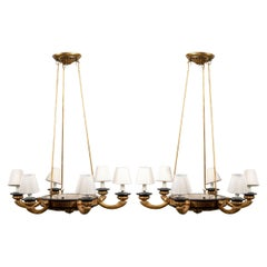 Pair of Italian Classical Style Chandeliers