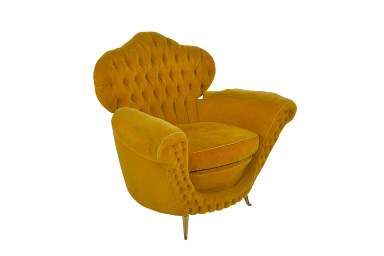 Pair of Italian Club Chairs, 1950 For Sale 1