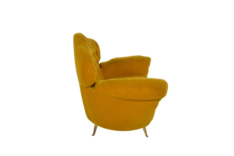 Pair of Italian Club Chairs, 1950 For Sale 2