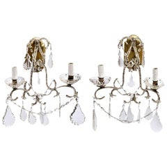 Pair of Italian Crystal Sconces
