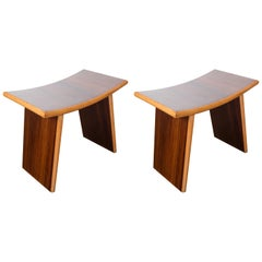 Pair of Italian Deco Benches/Side Tables
