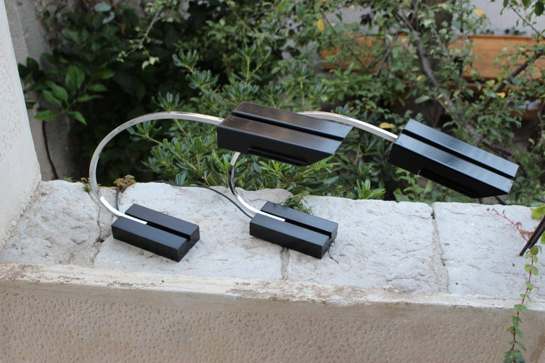 Pair of Italian Desk Lamps In Good Condition For Sale In Los Angeles, CA