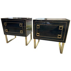 Pair of Italian Dressers, in the Style of Jansen, Edition Nardo, 1975