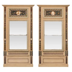 Pair of Italian Early 19th Century Neo-Classical St. Trumeau Mirrors
