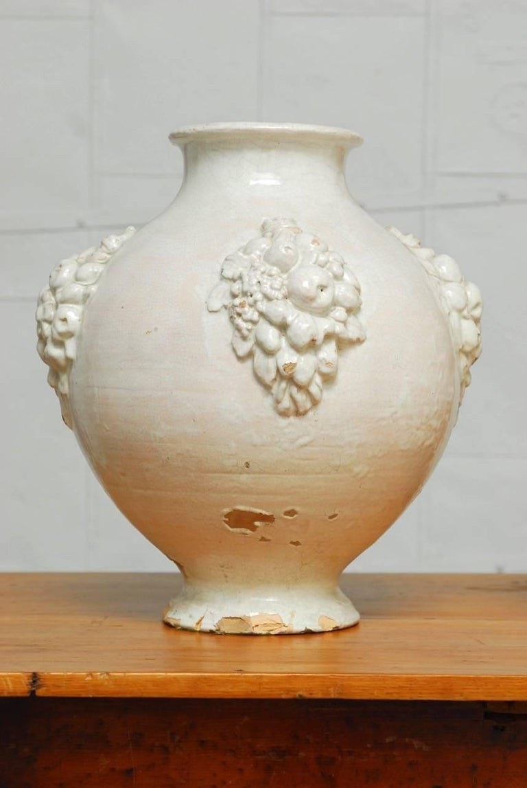 Hand-Crafted Pair of Italian Earthenware Pottery Jars For Sale