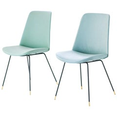 Pair of Italian Easy Chairs Model DU22 by Gastone Rinaldi for Rima