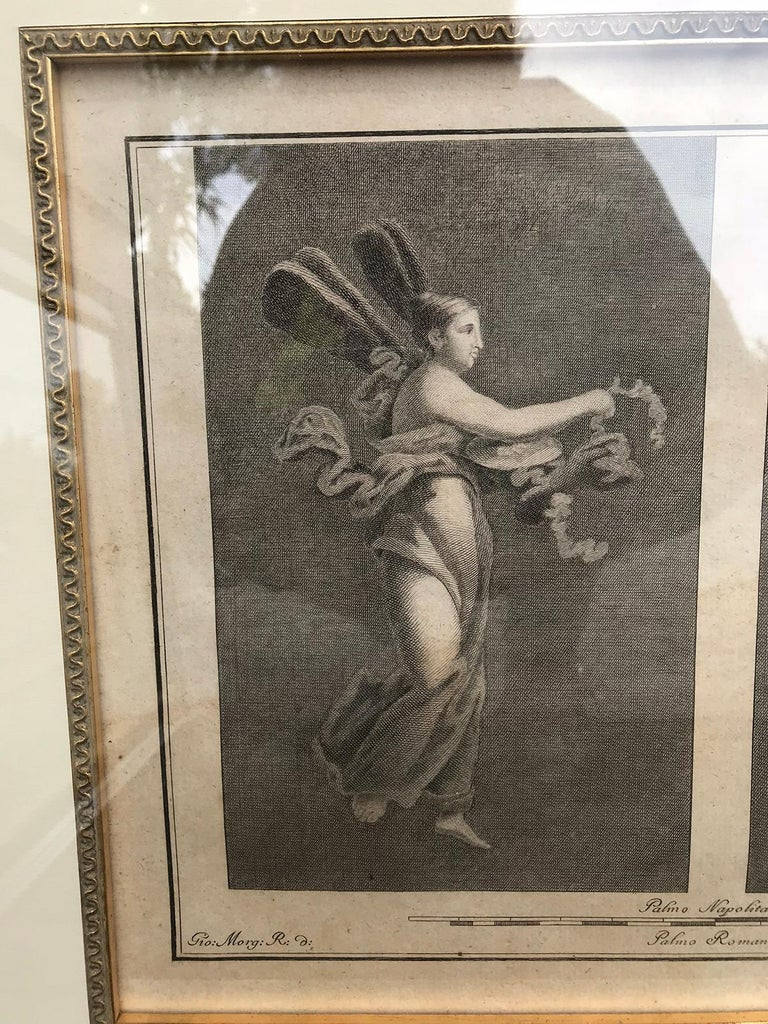 Pair of Italian Engravings of Ruins of Herculaneum by Giovanni Morghen For Sale 5