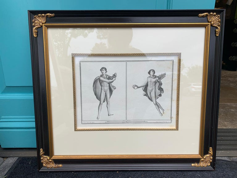 Pair of Italian Engravings of Ruins of Herculaneum by Giovanni Morghen In Good Condition For Sale In Atlanta, GA