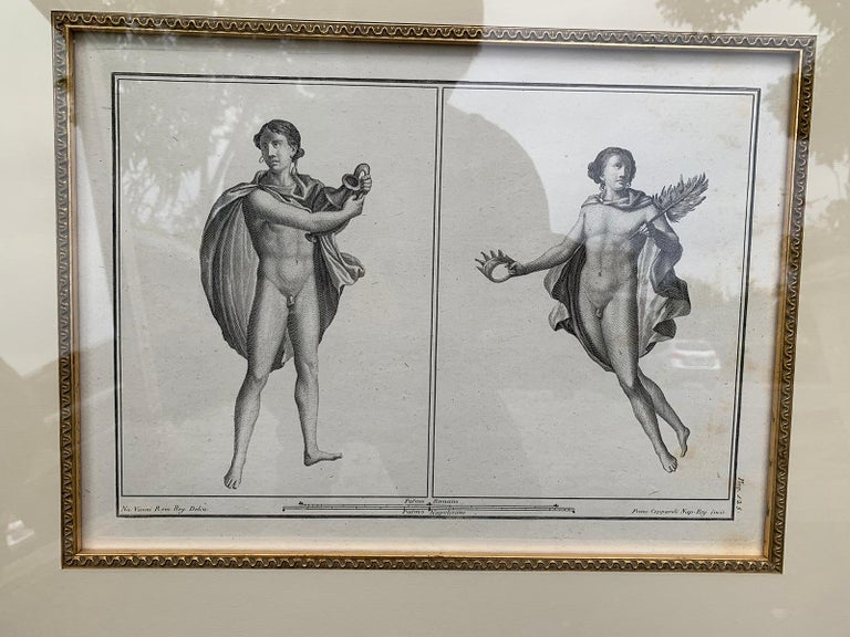 18th Century and Earlier Pair of Italian Engravings of Ruins of Herculaneum by Giovanni Morghen For Sale