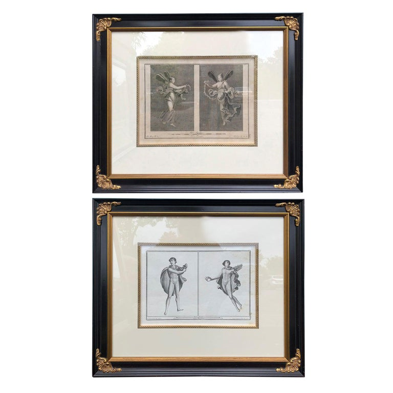 Pair of Italian Engravings of Ruins of Herculaneum by Giovanni Morghen For Sale