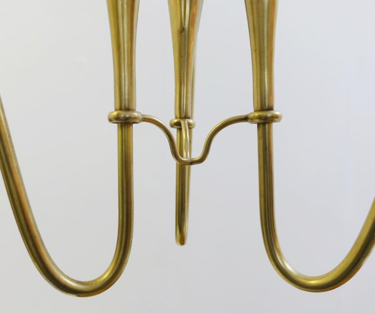 Pair of Italian Fontana Arte Style Brass and Glass Pendants Light, Italy, 1970s For Sale 1