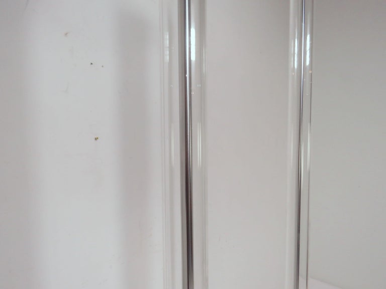 Pair of Italian Foscarini Floor Lamps in Glass and Aluminum For Sale 2