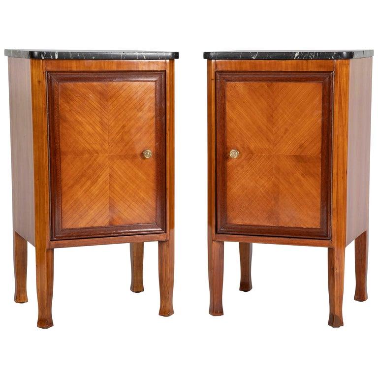 Italian Fruit Wood Bedside Cabinets