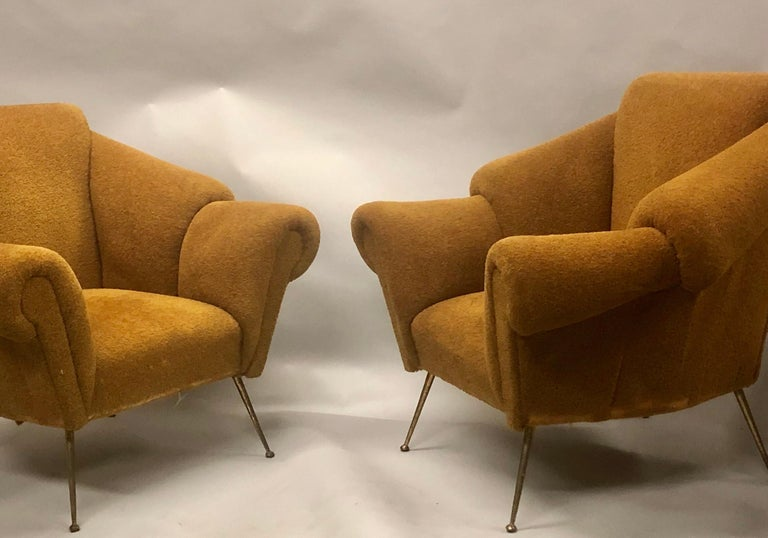 Pair of Italian Futurist Lounge Chairs / Armchairs Attributed to Giacomo Balla For Sale 2