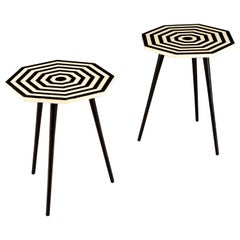 Pair of Italian Geometric Occasional Tables