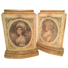 Pair of Italian Gilt Borghese Bookends with French Figures