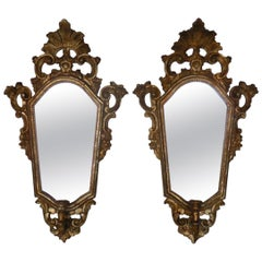 Pair of Italian Giltwood Mirrors