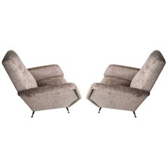 Pair of Italian Gio Ponti Style Chairs