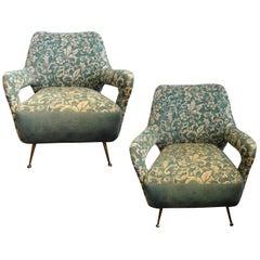 Pair of Italian Gio Ponti Inspired Lounge Chairs, circa 1960