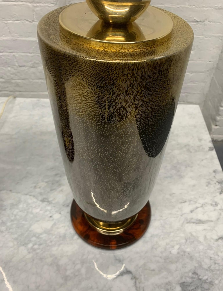 Pair of Italian Glass Lamps For Sale 2