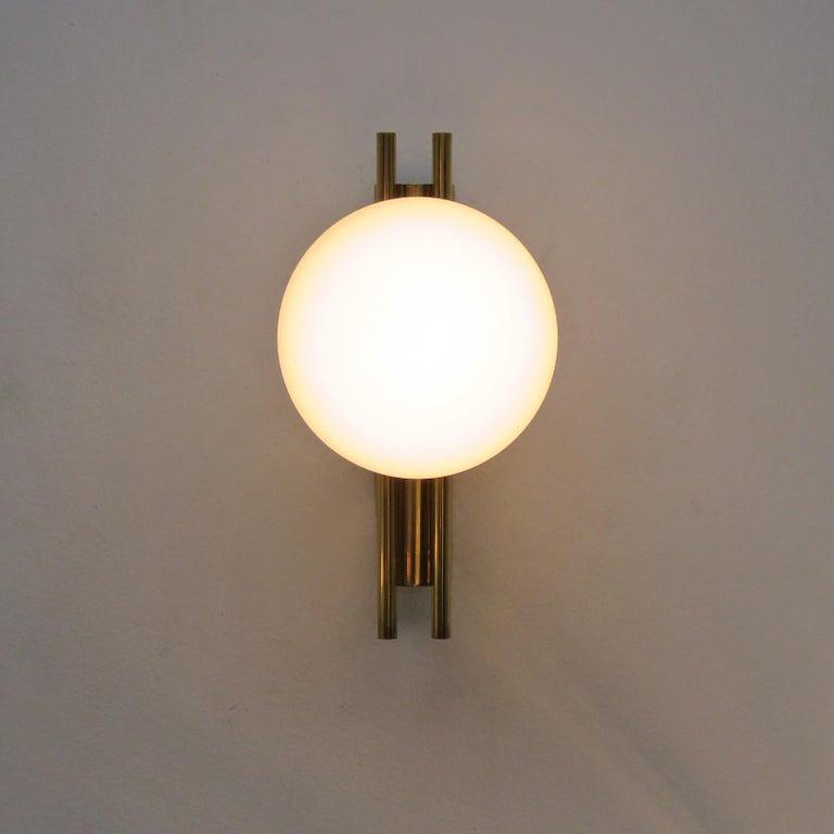 Pair of Italian Globe Wall Lights, 1950 For Sale 2