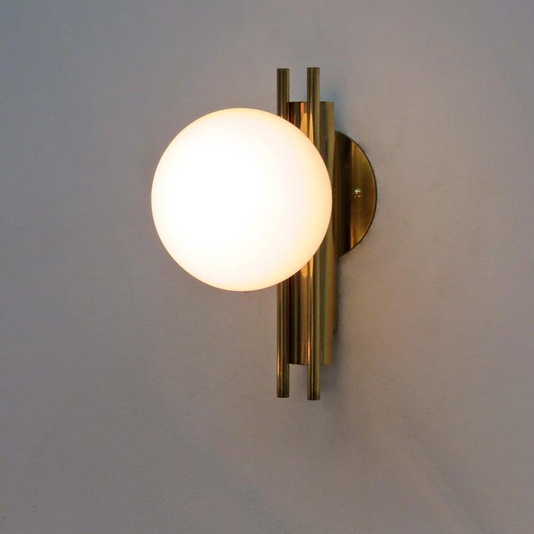 Pair of Italian Globe Wall Lights, 1950 For Sale 3